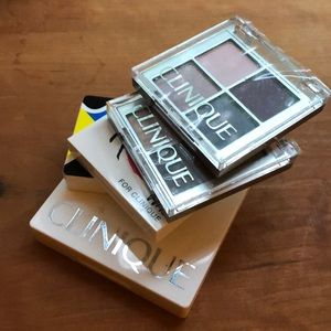Clinique set of 5 eye/cheek palettes
